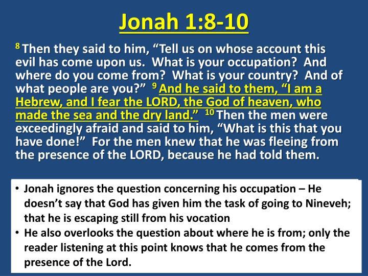 Jonah 1:8-10