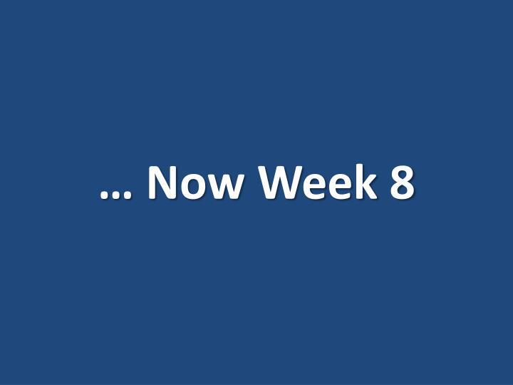 … Now Week 8