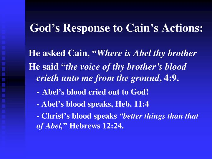 God's Response to Cain's Actions: