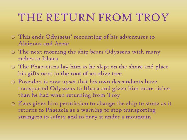 THE RETURN FROM TROY