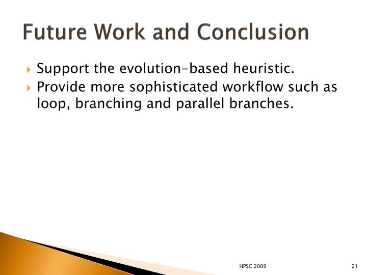 Future Work and Conclusion