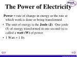 the power of electricity