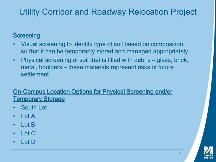 Utility Corridor and Roadway Relocation Project