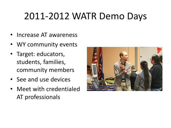 2011-2012 WATR Demo Days