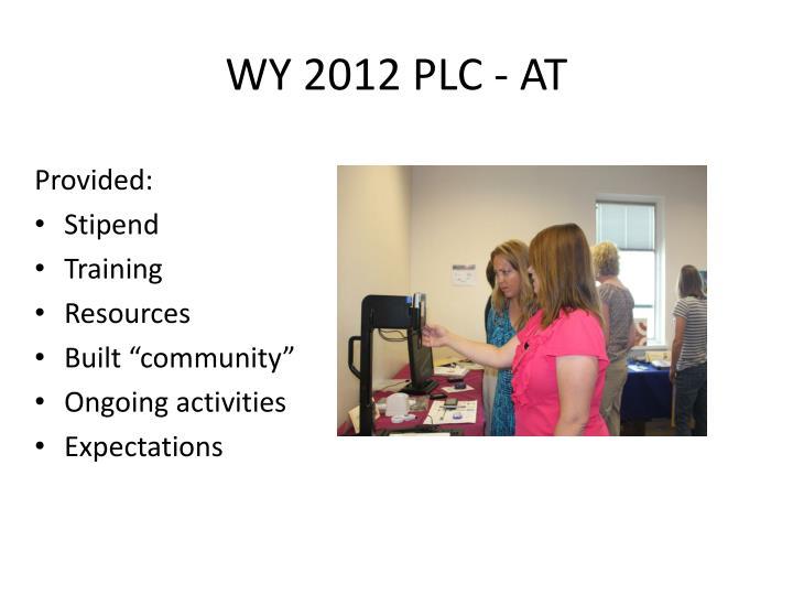 WY 2012 PLC - AT