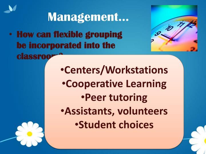 Management…