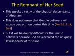 the remnant of her seed