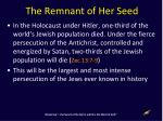 the remnant of her seed2