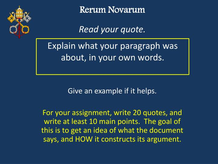 rerum novarum Previously (see the post following this one) i posted some excerpts on pope leo xii's encyclical rerum novarum (on capital and labor) here i post some background on that document.