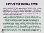 east of the jordan river