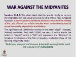 war against the midyanites