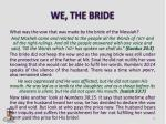 we the bride