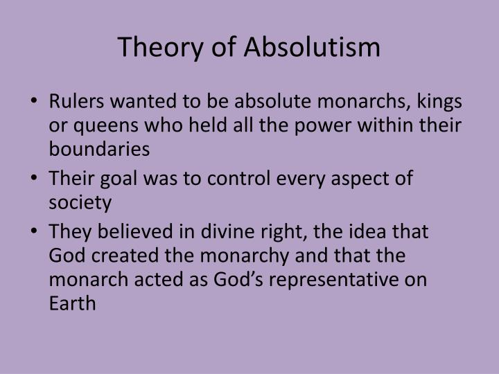 theory of absolutism n.