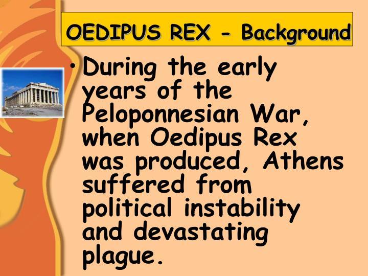 OEDIPUS REX - Background