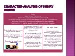 character analysis of henry corrie