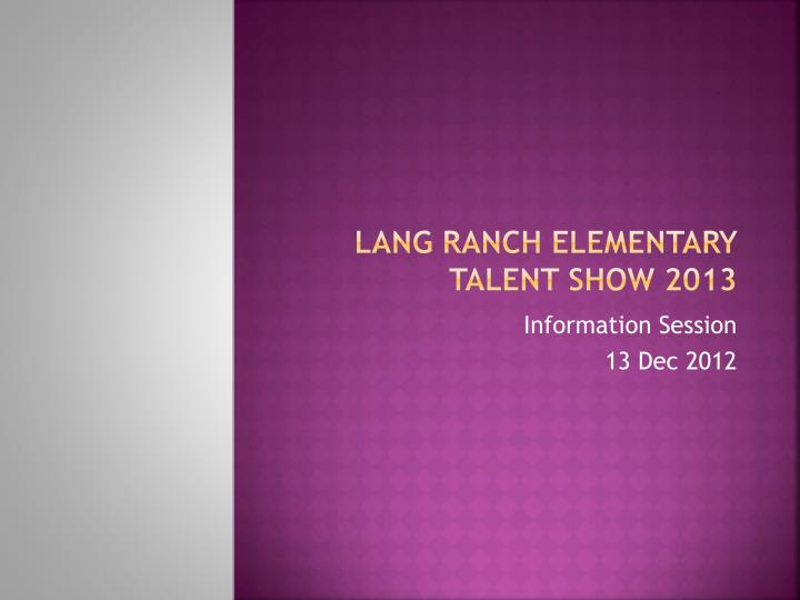 lang ranch elementary talent show 2013 n.