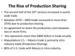 the rise of production sharing