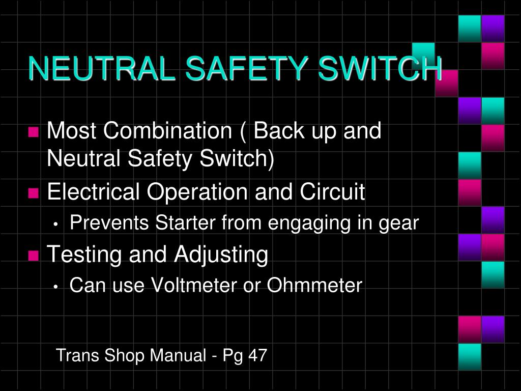 PPT - AUTOMATIC TRANSMISSION ELECTRICAL PowerPoint