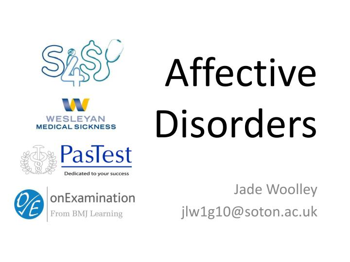 affective disorders n.