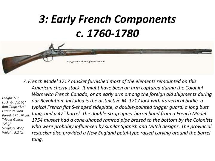 3: Early French Components