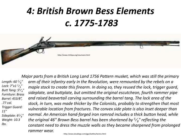 4: British Brown Bess Elements