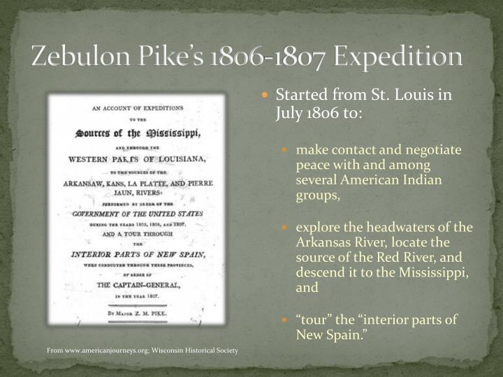 Zebulon Pike's 1806-1807 Expedition