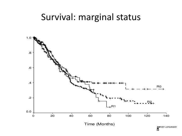 Survival: marginal status