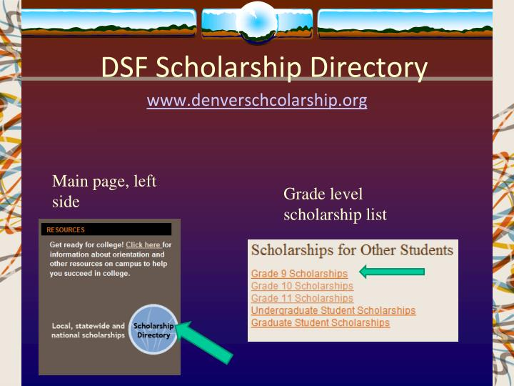 DSF Scholarship Directory