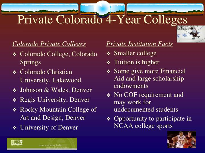Private Colorado 4-Year Colleges