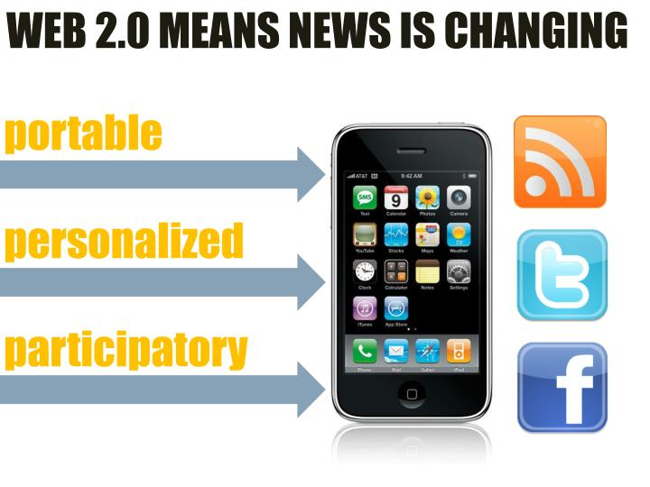 WEB 2.0 MEANS NEWS IS CHANGING