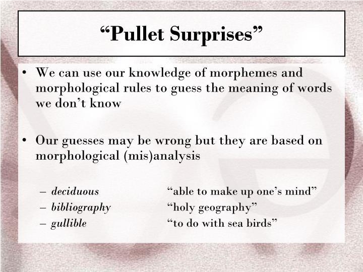 """""""Pullet Surprises"""""""