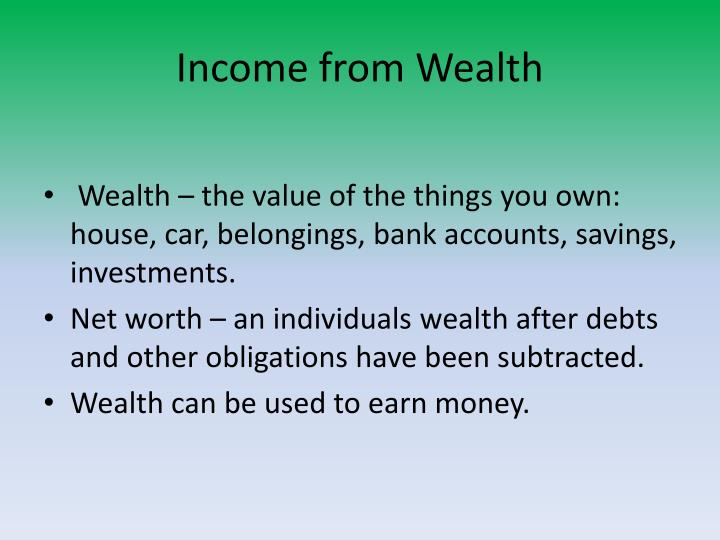 Income from wealth