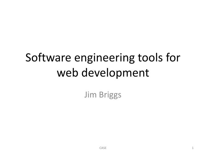software engineering tools for web development n.