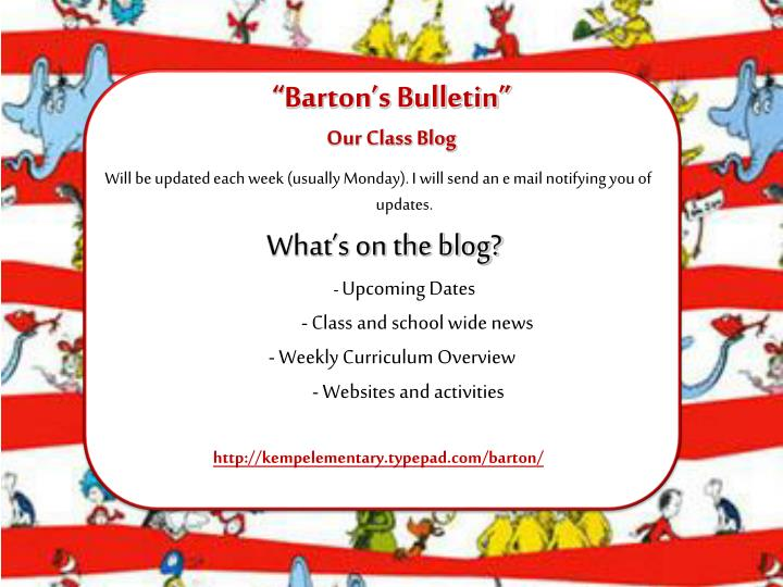 """Barton's Bulletin"""