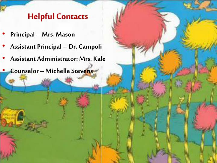 Helpful Contacts
