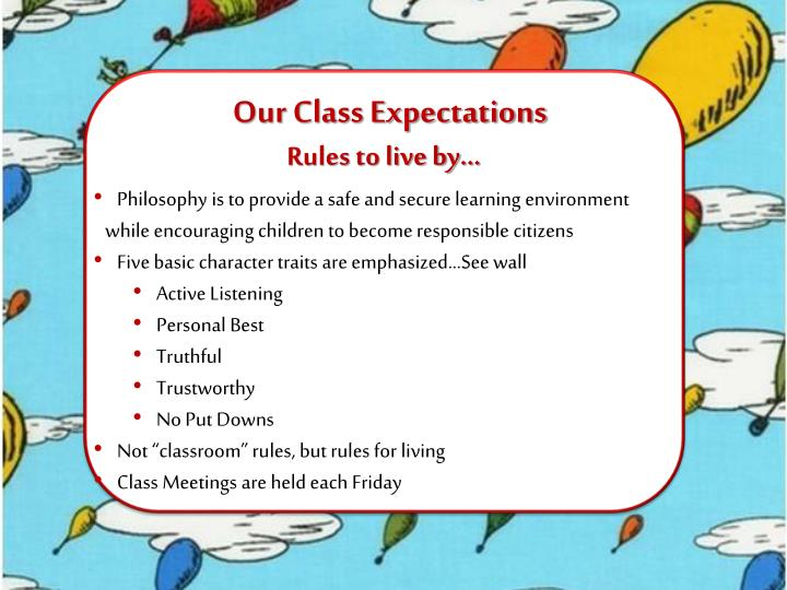 Our Class Expectations