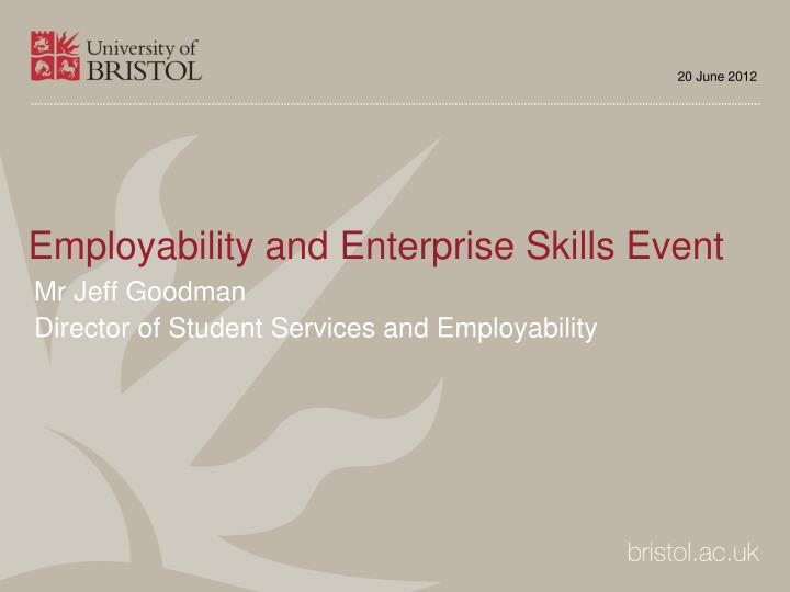 employability and enterprise skills event n.