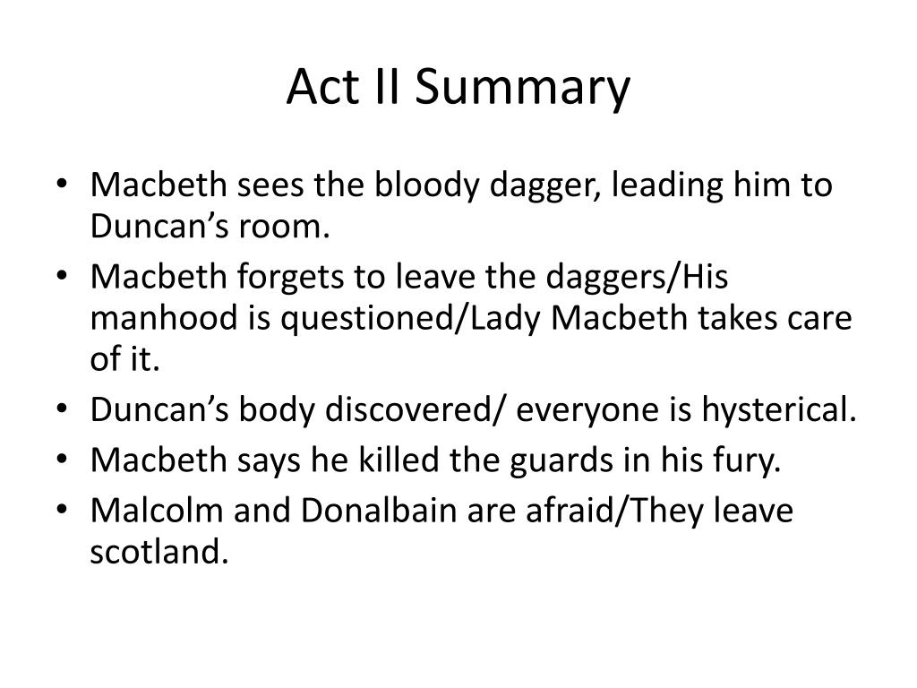 PPT - Macbeth Act II PowerPoint Presentation, free download - ID:2319066