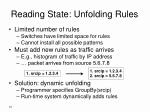 reading state unfolding rules