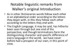 notable linguistic remarks from walker s original introduction