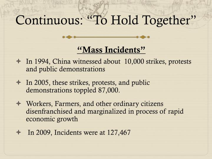 "Continuous: ""To Hold Together"""
