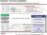dataflash low power capabilities ultra deep power down enables p ower saving with less components