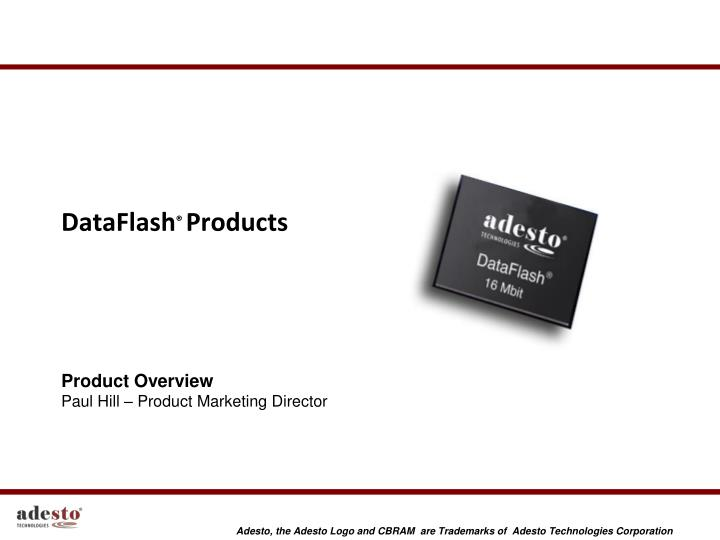 dataflash products n.