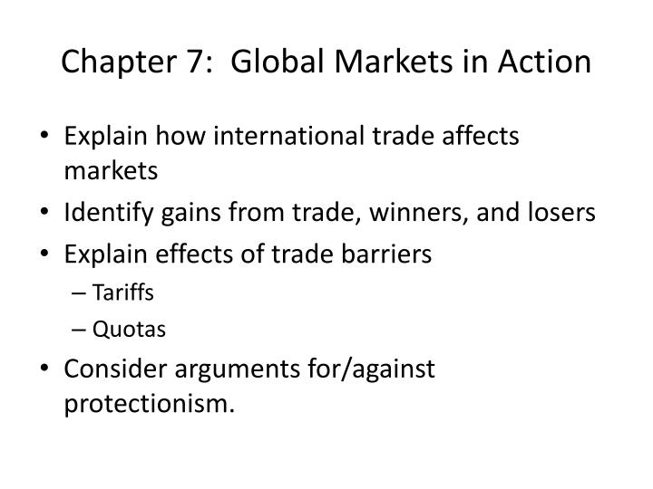 chapter 7 global markets in action n.