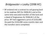 bridgewater v leahy 1998