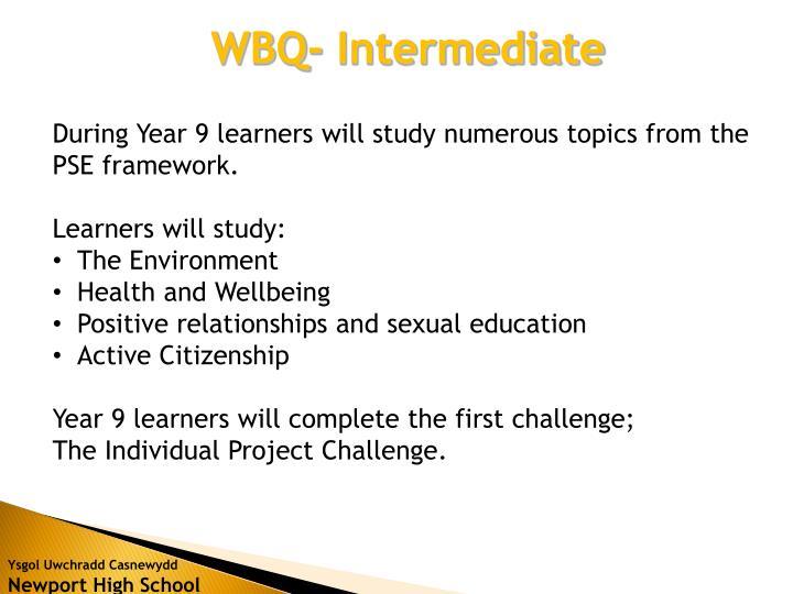 WBQ- Intermediate