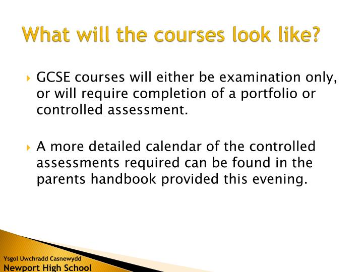 What will the courses look like?