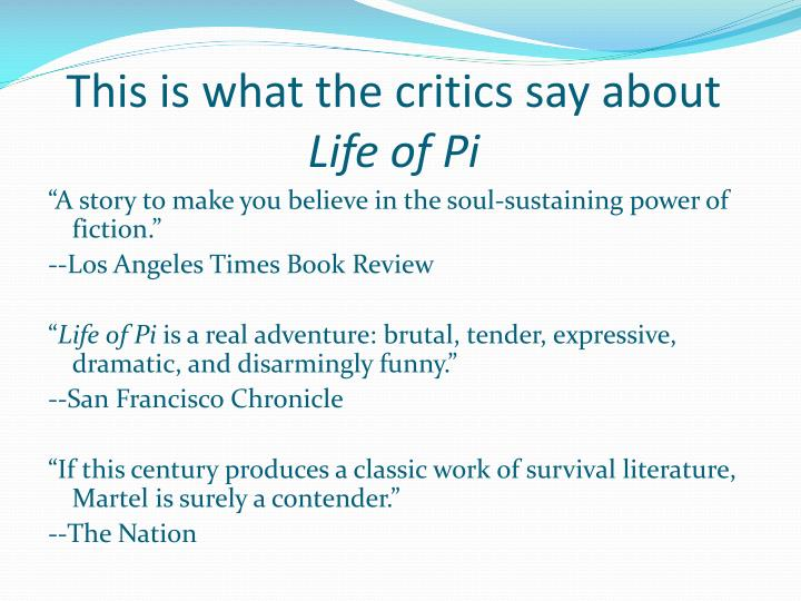 This is what the critics say about