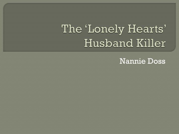 the lonely hearts husband killer