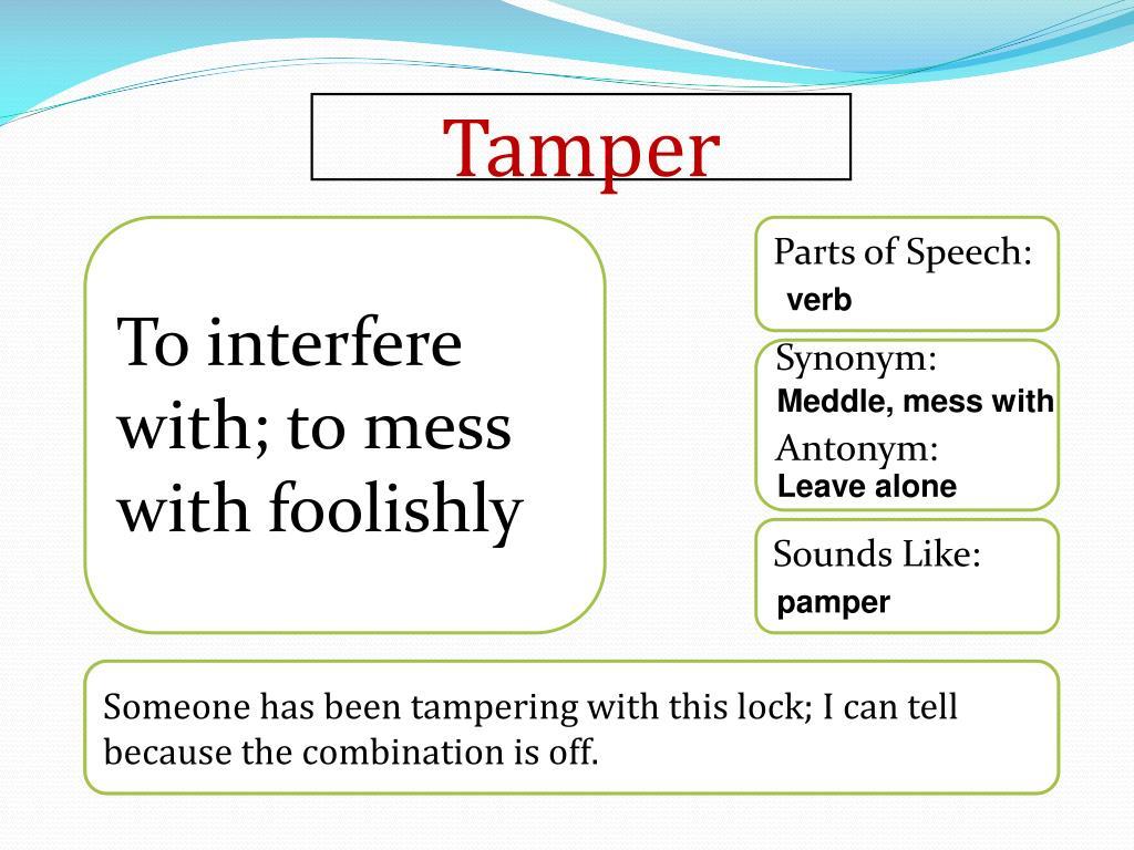 interfere synonym